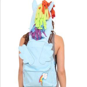 My little pony rainbow dash hoodie backpack